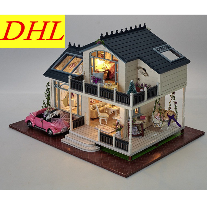 WORKMANSHIP Production Wood House Bricolage Model Diy Creative Refinement Educational Toys Decoration Send Birthday Gift L457 bricolage model diy production nuts squirrel wood house refinement with led light house and home furnishings birthday gift l481