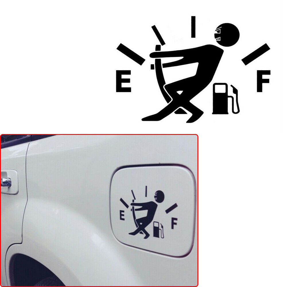 12cm*9cm Car Styling Sticker High Gas Consumption Decal Fuel Gage Empty Funny Vinyl for tank cover