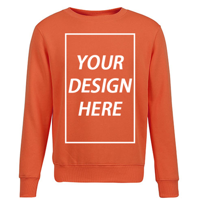 Sports Spring Round Neck Long Sleeve Men's Sweatshirt  Jacket Customized Own Design Logo 012