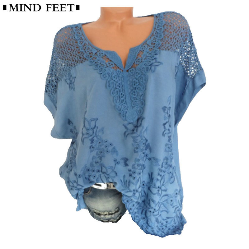 Open-Minded 2018 New Fashion Women Blouse Casual Long Sleeve Lace Patchwork Shirt Lace Crochet Top Tunic Blusas Mujer Women's Clothing