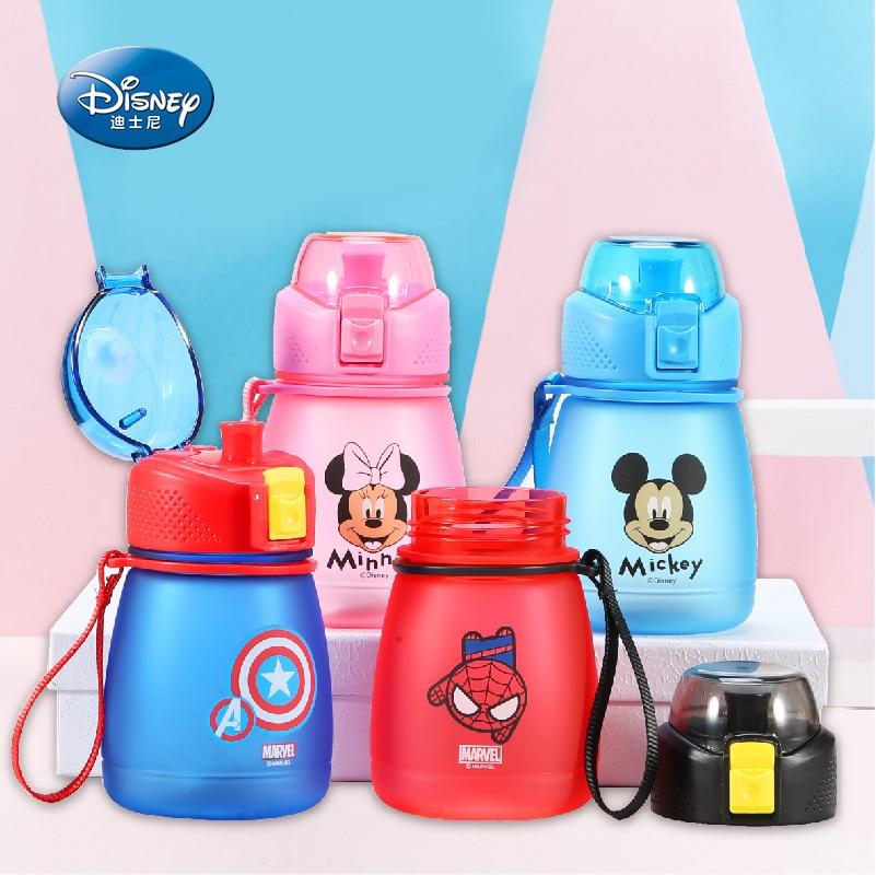 390ml Baby Water Bottle Straw Drinkware Kids Feeding Cup BPA Free Marvel Minnie Mickey Tritan Children's Cup Bebes Copos Outdoor