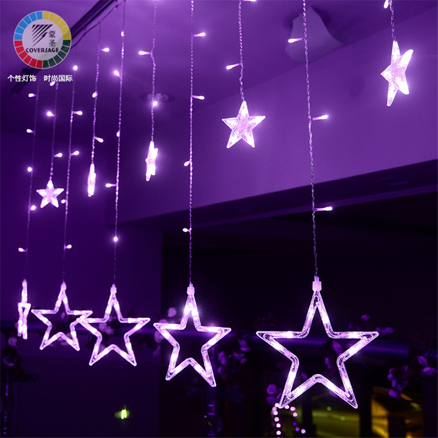 Led Fairy Star String Lights Wedding Curtain Holiday Decorative Christmas Tree Decoration Garden Christmas Lucine Decorative