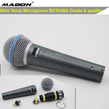 Darmowa wysyłka przewodowy mikrofon wokalny klasy A beta58a mikrofon BETA58A tanie i dobre opinie MADON Dynamiczny Mikrofon Karaoke mikrofon Pojedyncze Mikrofon Mikrofon ręczny Kardioidalna Grey Blue 50-16000 Hz Supercardioid