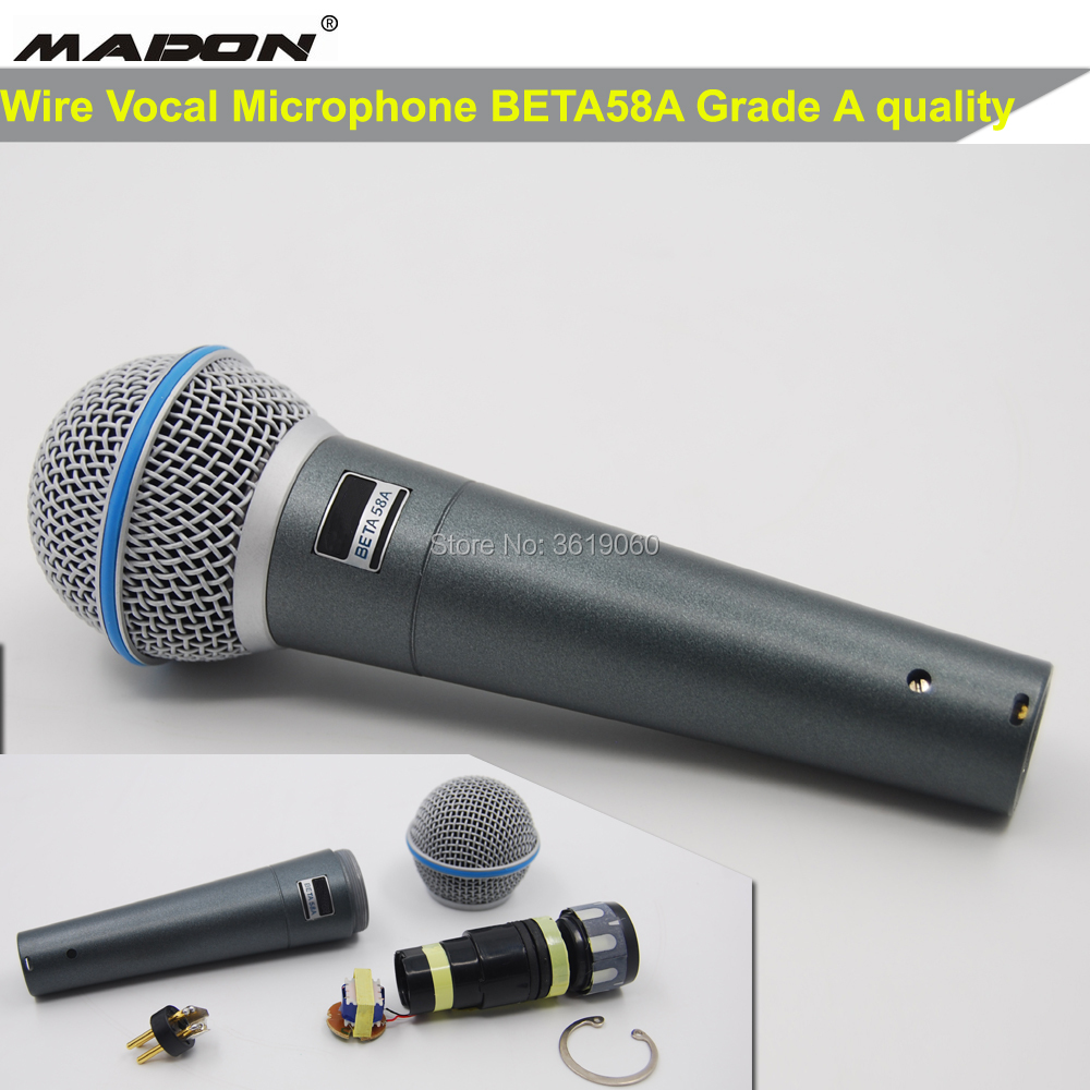 Free Shipping, Grade A Beta58a Wired Vocal Microphone , BETA58A Microphone
