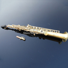 Wholesale –Green Gula Si straight soprano saxophone saxophone France, Henry Reference 54