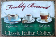 1pc Coffee Latte Cappuccino Italian plaques Tin Plate Sign wall man cave Decoration Poster metal vintage retro shabby decor shop