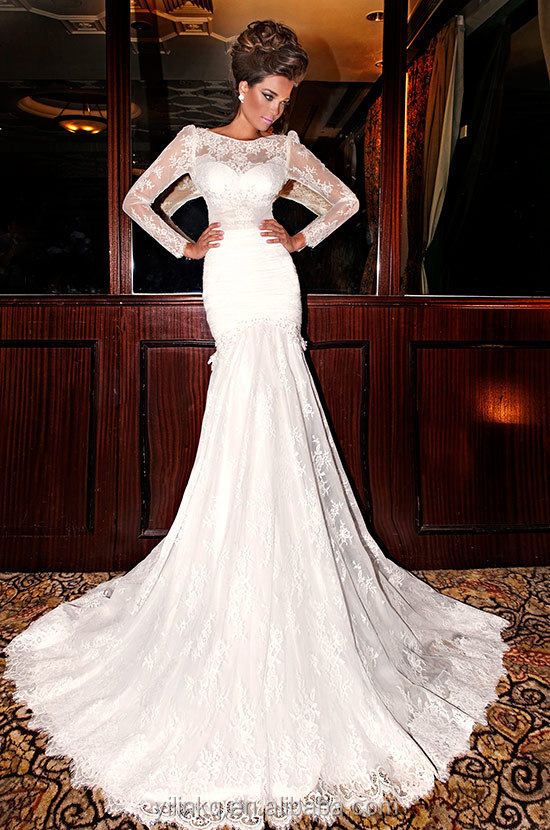 Mermaid Long Sleeve Julie Vino Kleinfeld Bridal Gown Imported From China Custom Made Aliexpress In Turkey Wedding Dresses On Alibaba