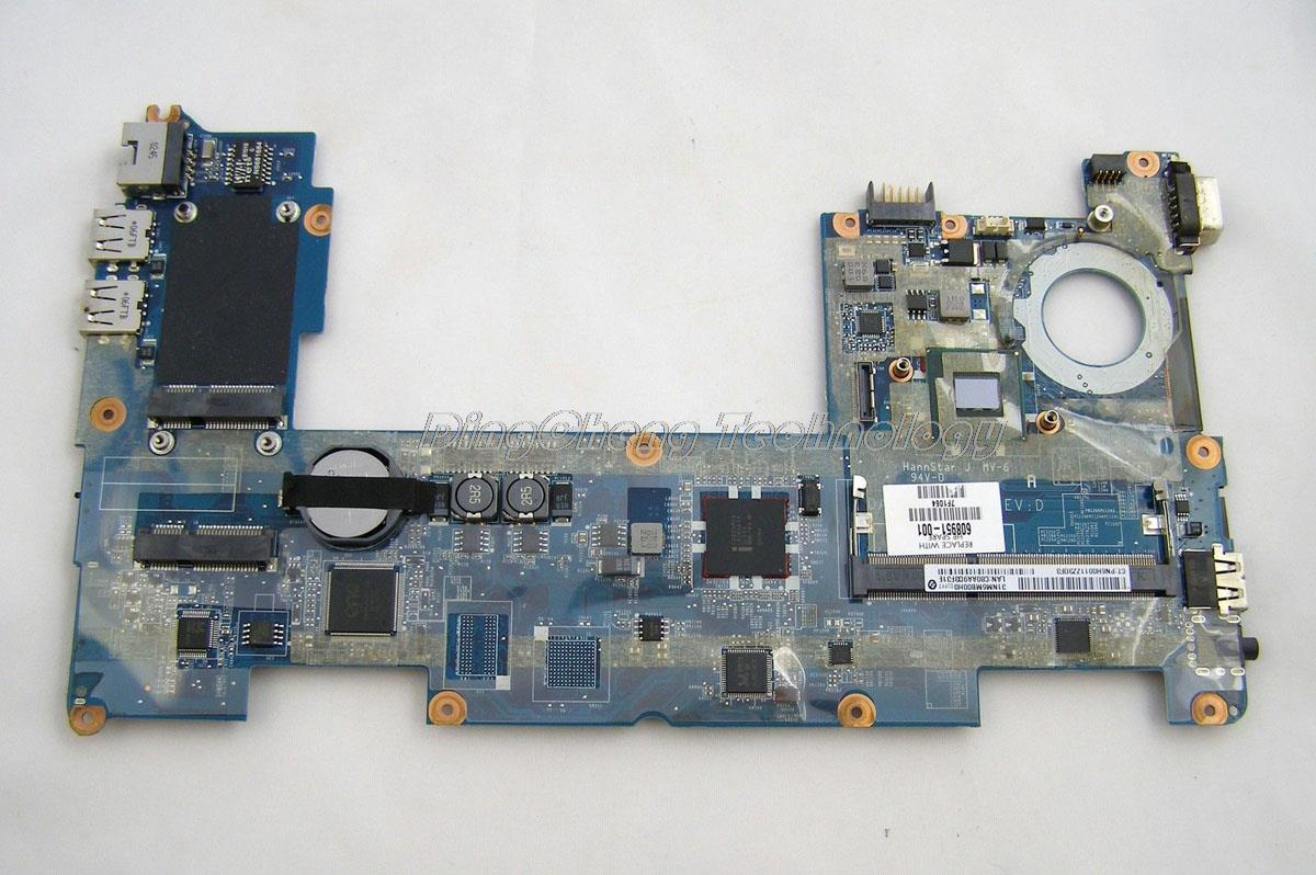 SHELI laptop Motherboard For hp MIN210 608951-001 DANM6DMB6D0 for intel N455 cpu with integrated graphics card DDR3