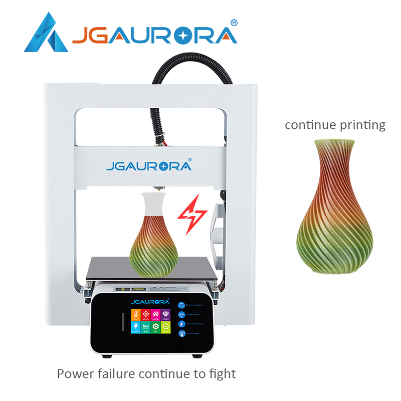 JGAURORA Updated A3S 3D Printer Diy Kit High Percision Resume Power Failure Printing Filament Detection Sensor Power Supply