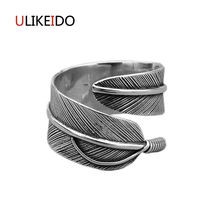 100 Real 925 Sterling Silver Open Rings For Men Or Women Takahashi Goros Eagle Feathers Jewelry