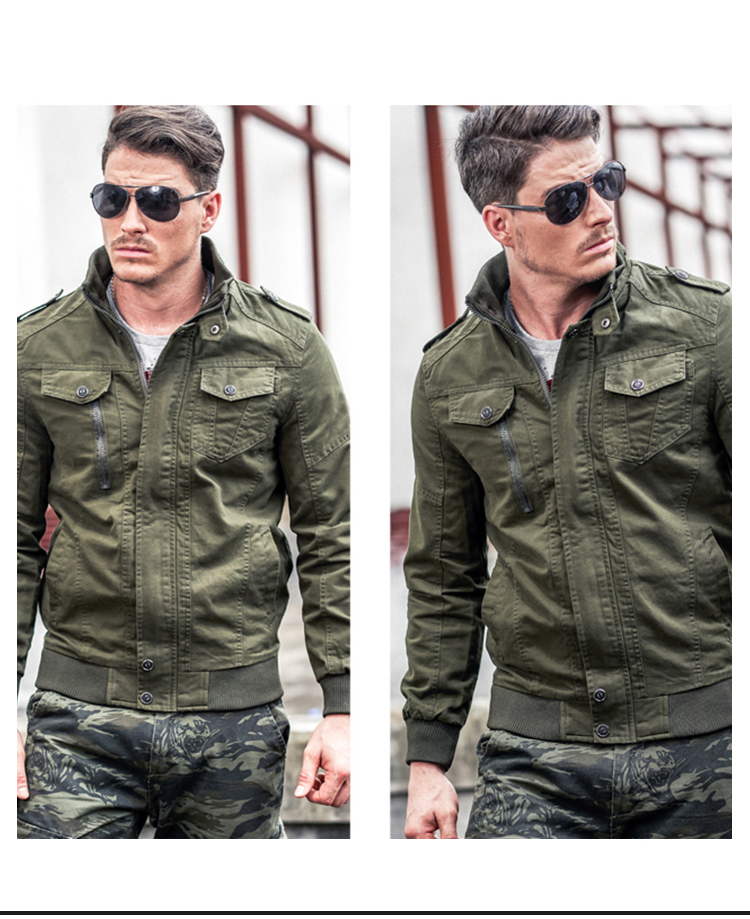 Mens Denim Jacket Big Size 6XL Military Tactical Jeans jacket Solid Casual Air Force Pilot Coat Casaco Masculino DropShipping