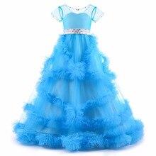 Реальное изображение бальное платье девушки Пышное Платье для девочки Тюль Многоуровневое с бисером створки цветок девушки платья для свадьбы