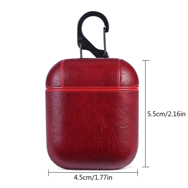 Genuine Leather Hook AirPod Case Cover 5