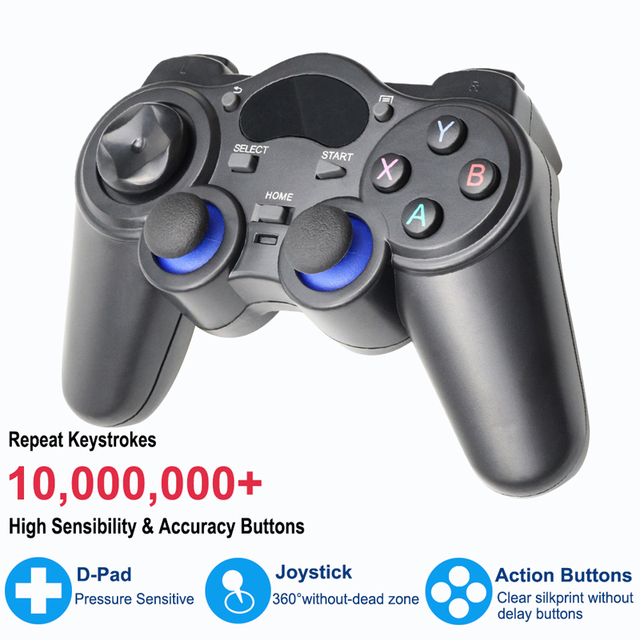 2.4 G Controller Gamepad Android Wireless Joystick Joypad with OTG Converter For PS3/Smart Phone For Tablet PC Smart TV Box 4