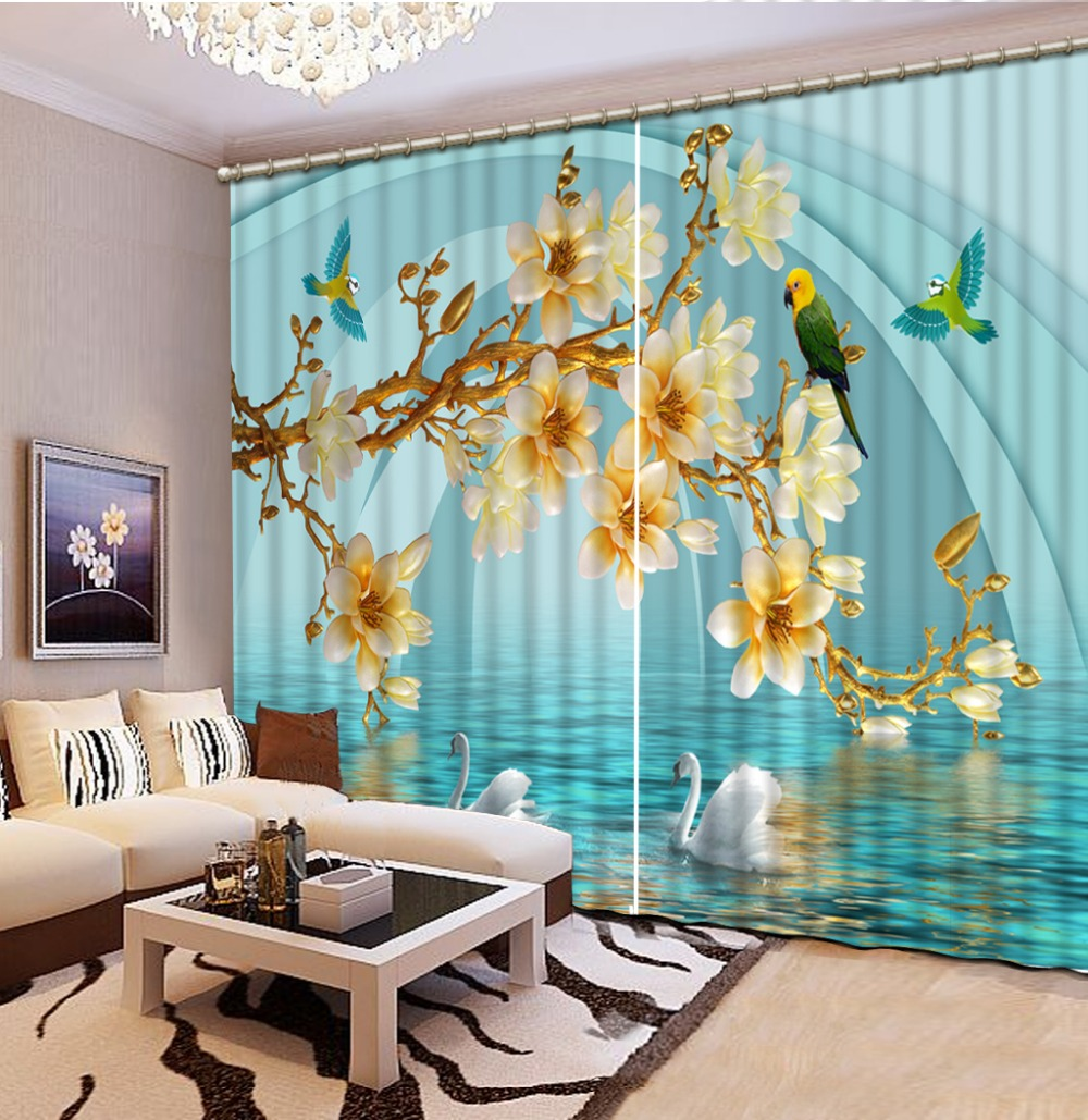 Http Www Aliexpress Com Item Factory Diret Sale Home Decor Living Room Natural Art 3d Magnolia Flower Curtain Window Room 32707279824 Html