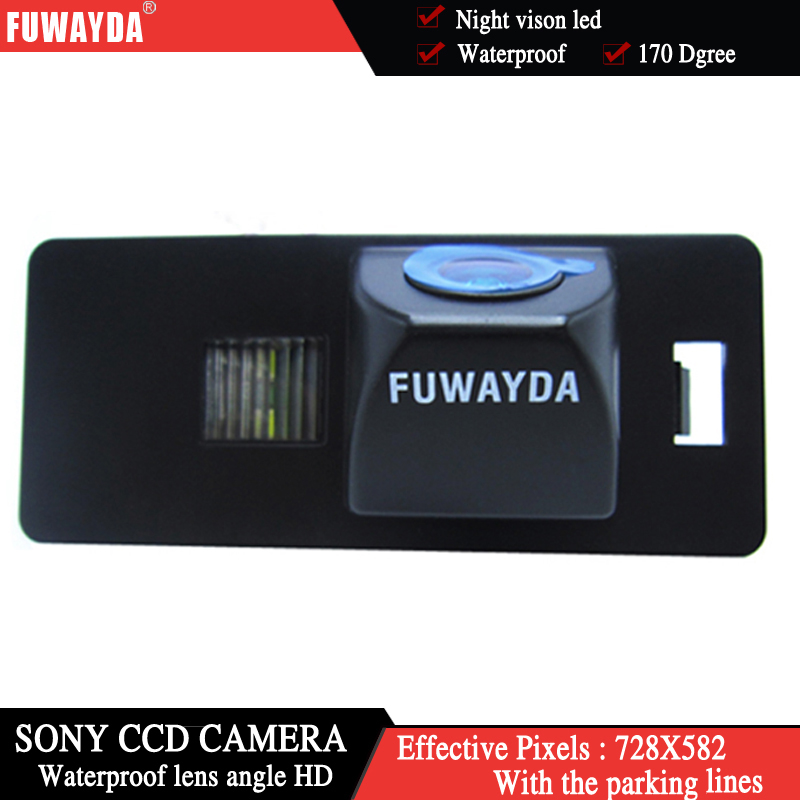 FUWAYDA SONY CCD Chip CAR REAR VIEW <font><b>CAMERA</b></font> Reverse With Guide Line <font><b>CAMERA</b></font> FOR <font><b>AUDI</b></font> A1 <font><b>A4</b></font> (B8) A5 S5 Q5 TT/ PASSAT R36 5D image