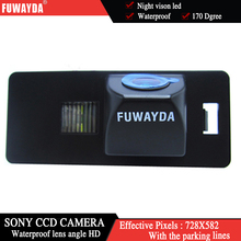 FUWAYDA SONY CCD Chip de VISIÓN TRASERA CÁMARA de Marcha Atrás Con la Línea de Guía de LA CÁMARA PARA AUDI A1 A4 (B8) A5 S5 Q5 TT/PASSAT R36 5D