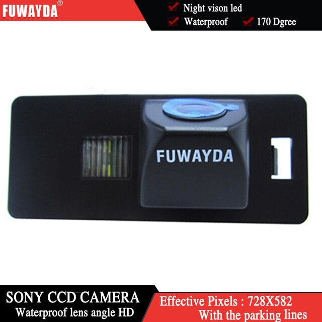 Fuwayda SONY CCD чип Автомобильная камера заднего вида Обратный с Руководство линия камеры для AUDI A1 A4 (B8) A5 S5 Q5 TT/PASSAT R36 5D