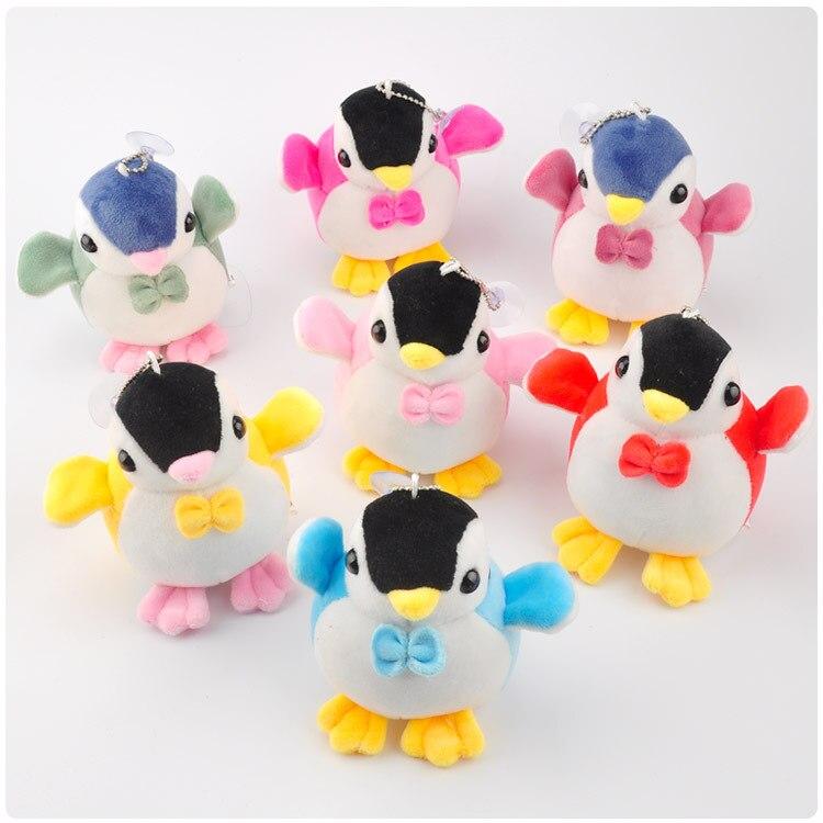 Raum Baumwolle Bogen Sehr Nette Pinguin Plüsch Anhänger Spielzeug Puppe Clamshell Puppe Plüsch-schlüsselanhänger Nach Dem Zufall Vorbereiten 10 Cm Wj04 üBerlegene In QualitäT