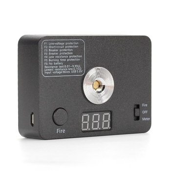 Coil Father Digital 521 Tab Mini V3 Ohm Meter Resistance Tester for DIY Electronic Cigarette RDA RBA Tank Wire