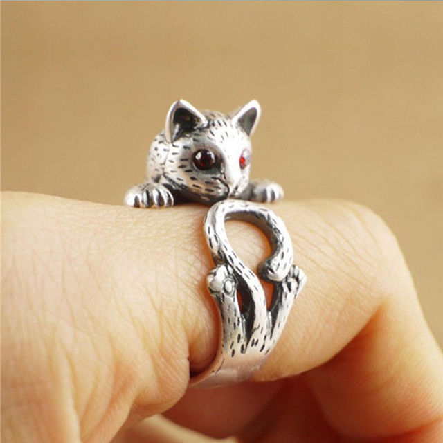 Summer Style Hippie Vintage Kitty Ring