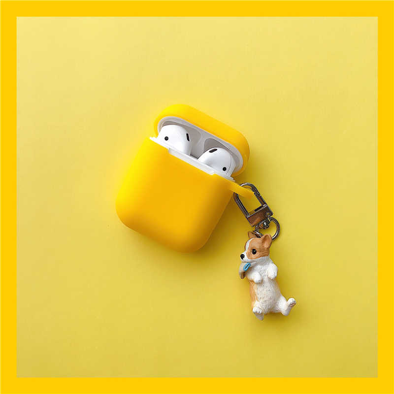 Cartoon Wireless Bluetooth Earphone Case For Apple AirPods Silicone Charging Headphones Cases With Keyring