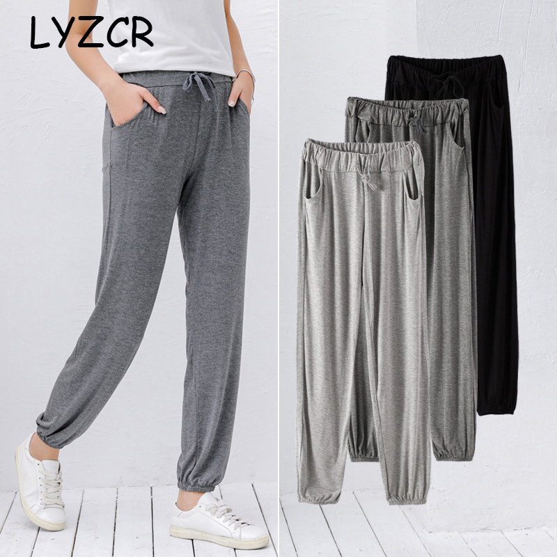 Women?s Summer Loose Pants for Women High Waist Slim Sport Classic Pants Women Elastic Waist Trousers Female Price $16.65
