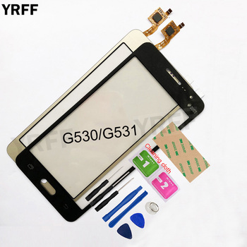 5.0'' For Samsung Galaxy Grand Prime G530 G531 G531F SM-G531F G530H Touch Screen Digitizer Touch Panel Front Glass Lens Sensor for samsung galaxy grand prime plus j2 prime housing front frame chassis camera lens battery cover touch screen sensor g532