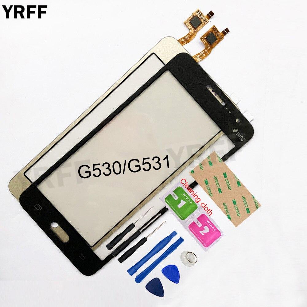 5.0 ''pour Samsung Galaxy Grand Prime G530 G531 G531F SM-G531F G530H écran tactile numériseur écran tactile capteur de lentille en verre avant
