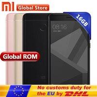 Original Xiaomi Redmi 4X 2Gb RAM 16Gb ROM 4 X Mobile Phone Snapdragon 435 Octa Core CPU 5.0