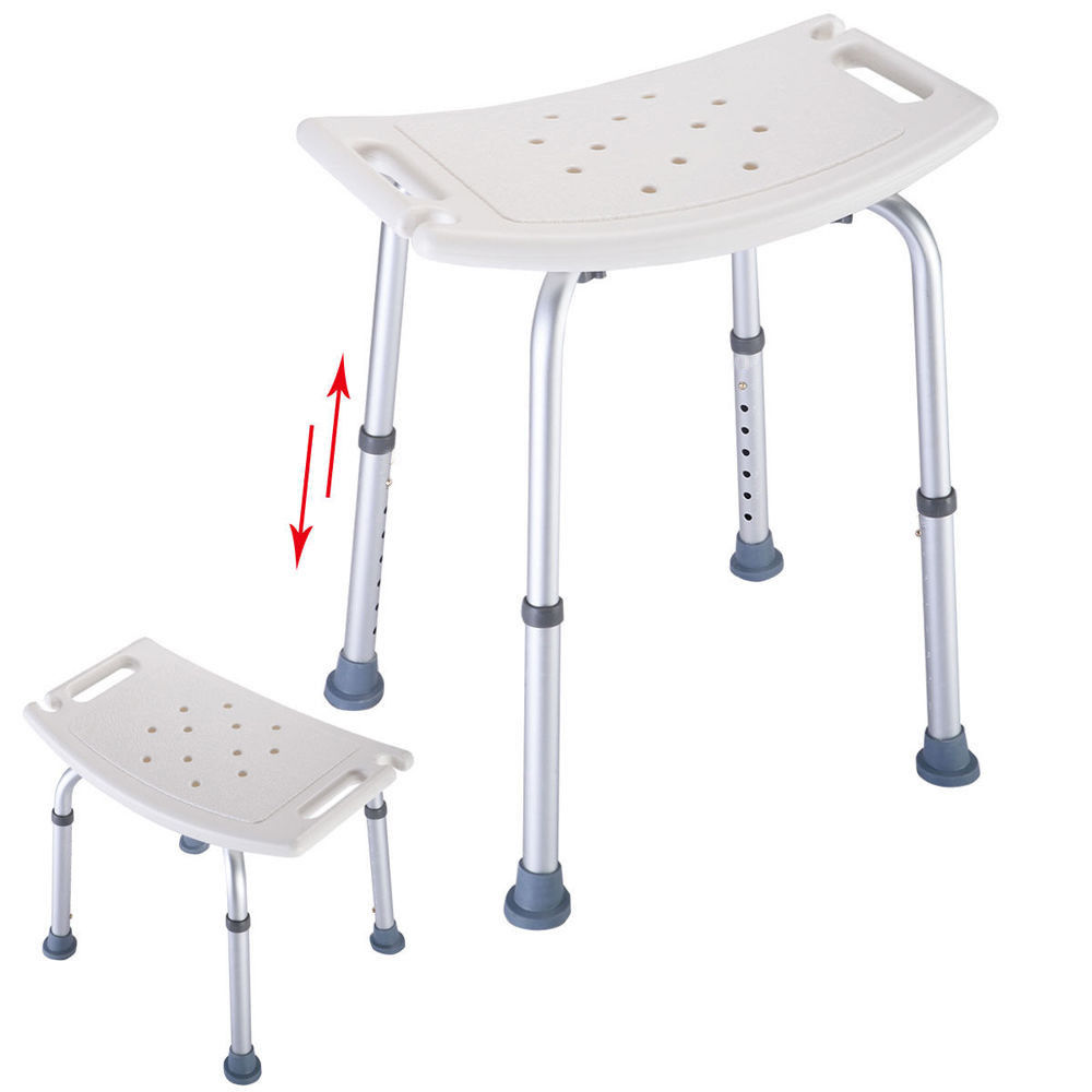 Elderly Adjustable Medical Bath Tub Shower Chair Bench Stool Seat 7 Height 1