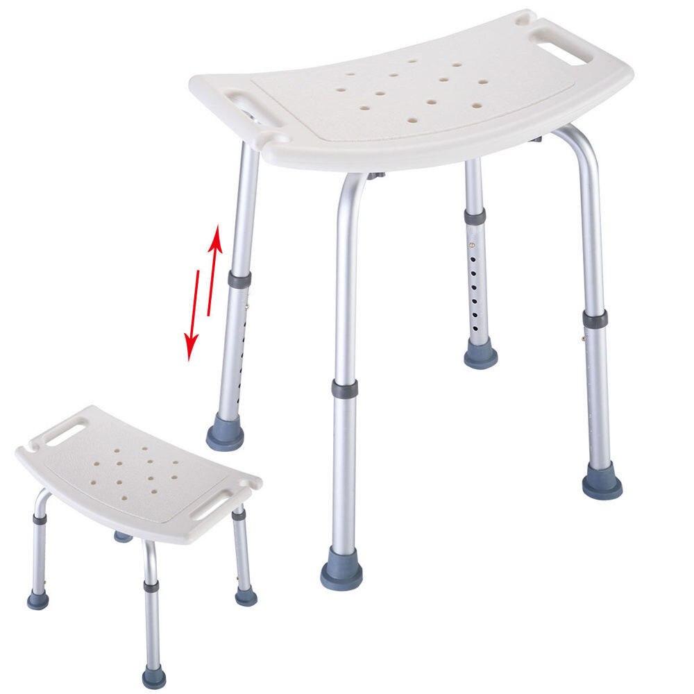 Elderly Adjustable Medical Bath Tub Shower Chair Bench Stool Seat 7 Height