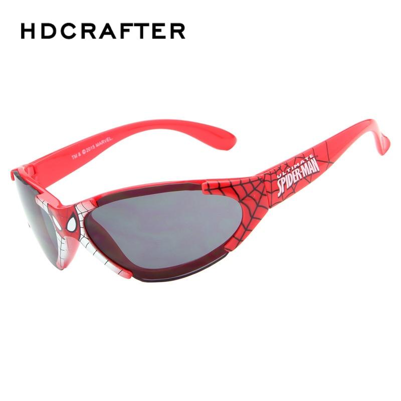 Cool Europe Certification Boys Spidermam UV400 Outdoor Sports Sunglasses Black/Red Colors Sun Glasses for Children/kids