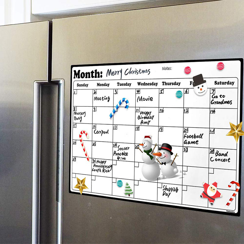 A4 Whiteboard Dry Erase Heavy Duty Magnetic Monthly Refrigerator Calendar Durable Made From Highest Quality Surface Material(China)