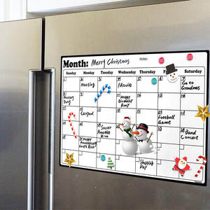 A4 Whiteboard Dry Erase Heavy Duty Magnetic Monthly Refrigerator Calendar