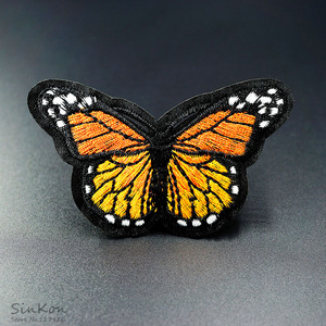 Yellow Butterfly (Size:5.0X8.0cm) DIY Embroidery Patch Applique Clothes Ironing Clothing Sewing Supplies Decorative(China)