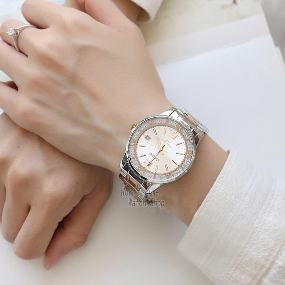 Часы Casio женские наручные часы Set top brand люкс 50м Водонепроницаемые кварцевые наручные часы Светящиеся женские подарки Часы Спортивные часы женские relogio feminino reloj mujer montre homme bayan kol saati zegare - 4