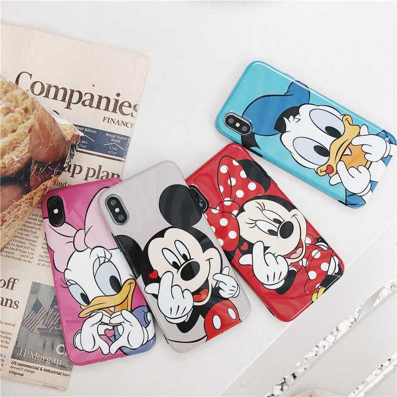 Meachy For iPhone X Case Mickey Phone Cases For iPhone XS MAX XR X 6 6S 7 8 Plus Cute Cartoon