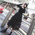 Тюль Юбки Паффи Плиссированные Юбки уличная мода стиль chic Party юбки женщины Декадентской стиль повелительницы юбка