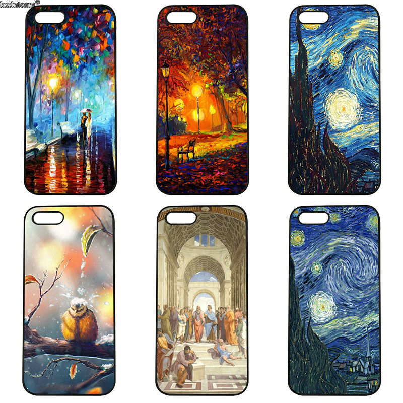 Vintage Van Gogh Oil Painting Phone Case Hard PC Plastic Cover For iphone 8 7 6 6S Plus X 5S 5C 5 SE 4 4S iPod Touch 4 5 6 Shell