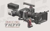 Tilta BMCC смещение плеча Рог 15 мм BMCC RIG для blackmagic Клетки для камеры + Follow Focus + 4*4 углерода матовая коробка V lock
