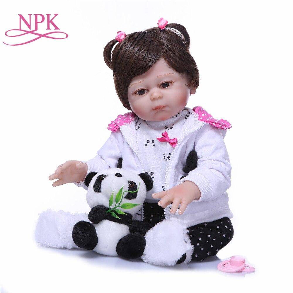 NPK реальные как принцесса Reborn куклы младенца новорожденных 48 см полный силиконовые виниловые Младенцы Возрождается Новый Дизайн детский де...