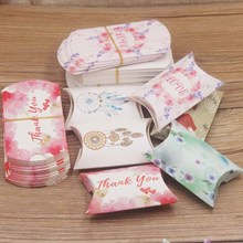 10pc new arrival multi design gifts package pillow box DIy Thank you/flower styles Marbel/Good luck wedding/candy