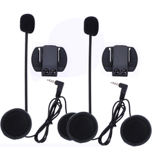 2 шт. V6 аксессуары динамик для наушников микрофон и клип только костюм для V6 V4 мотоциклетный шлем Bluetooth домофон