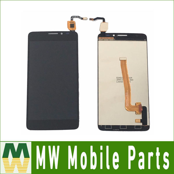 1PC/Lot For Alcatel Idol X+ X Plus OT-6043 OT6043 6043 6043D OT6043D Black White Color LCD Display Touch Screen Digitizer Sensor