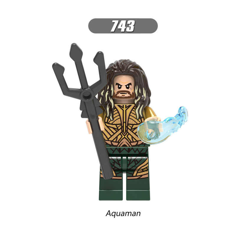 ขายเดียว Super Star Wars 743 Aquaman ชุด Mini Building Blocks รูปอิฐของเล่นเด็กของขวัญเข้ากันได้กับ Legoed Ninjaed