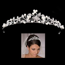4 дизайна свадебная тиара из жемчуга короны для свадьбы невесты женские украшения для волос головные украшения Стразы Украшения для волос аксессуары