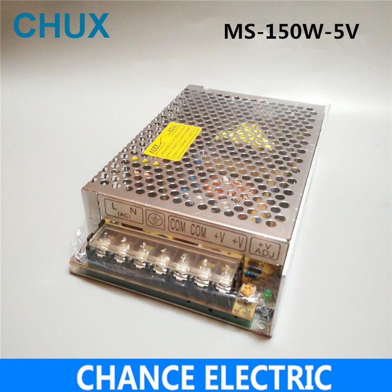 150W 5v 30A Switching power supply  Small Volume Single Output  for LED Strip light AC to DC(MS-150W-5V)  free shipping