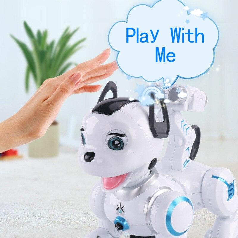 2018 niños para RC inteligente programación perro K10 caminando música electrónica máquina de Control remoto perro de juguete - 2