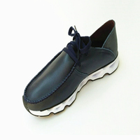 Soft leather shoes for men and women, new winter casual tie with a single shoe breathable 800